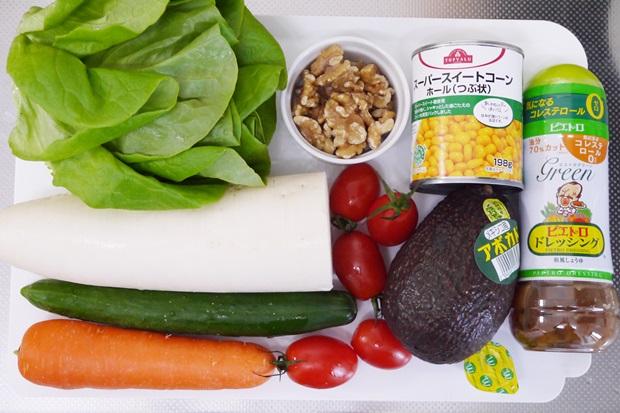 メイソンジャーサラダの材料の画像