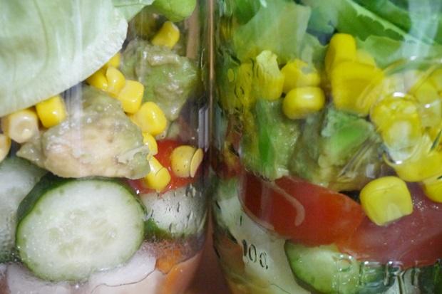 4日目メイソンジャーサラダの画像