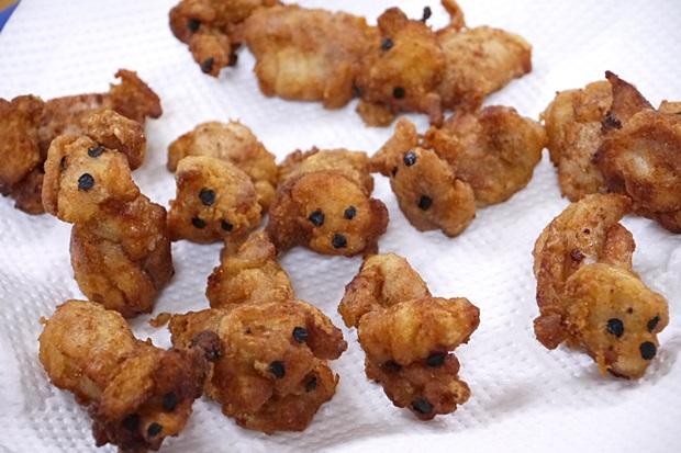 犬の唐揚げ画像