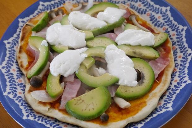 水切りヨーグルトピザの画像