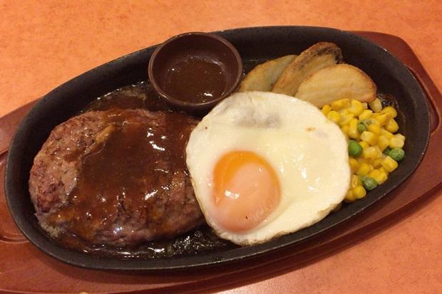 サイゼリアのハンバーグステーキの画像