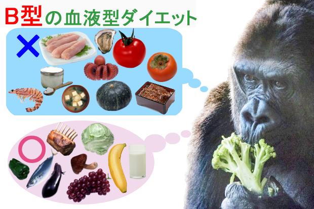 B型の血液型ダイエット2
