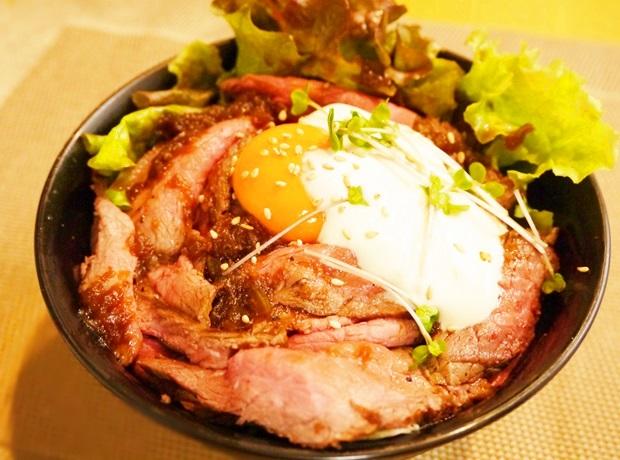 ローストビーフ丼レシピ画像