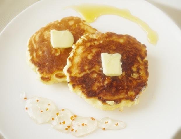 手作りリコッタチーズパンケーキ画像