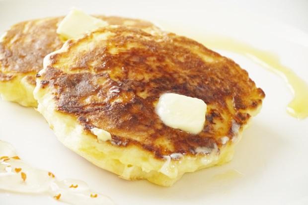手作りリコッタチーズパンケーキ