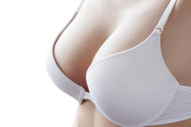 White bra on woman body