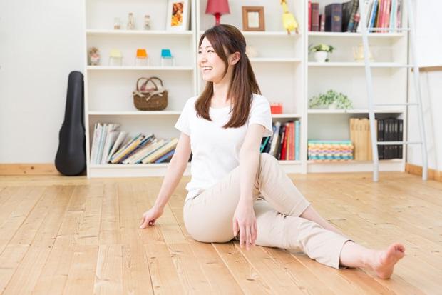 妊娠超初期運動をする女性