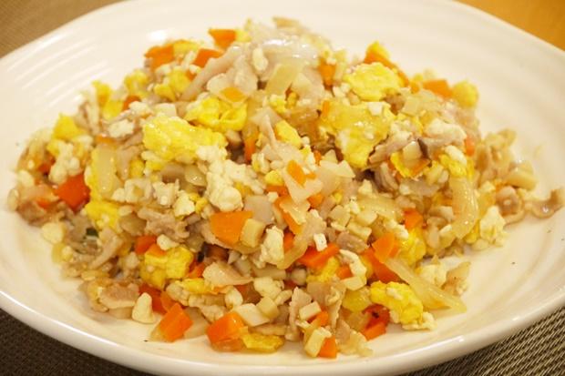 豆腐ごはんチャーハン作り方
