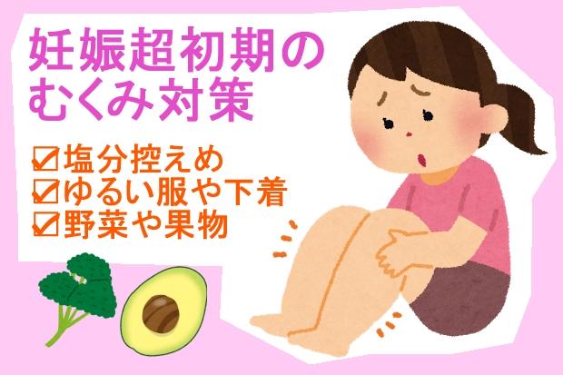 妊娠超初期症状むくみ