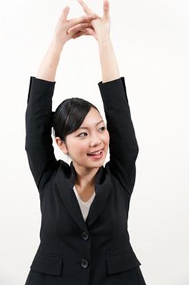 背伸びストレッチ画像