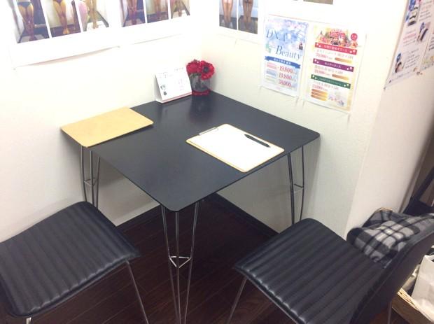カウンセリング用テーブル