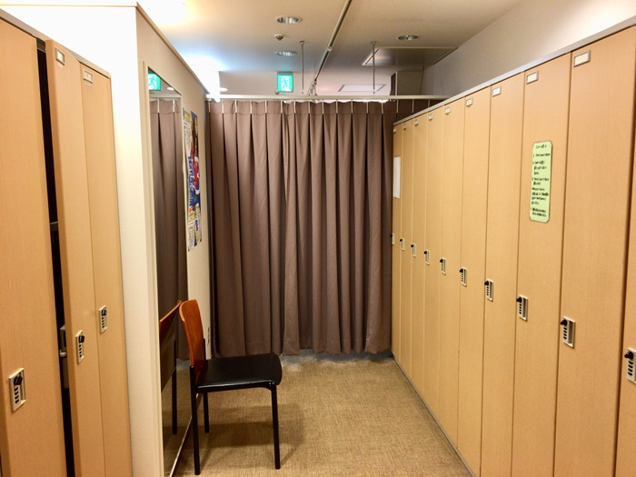 エルセーヌの更衣室